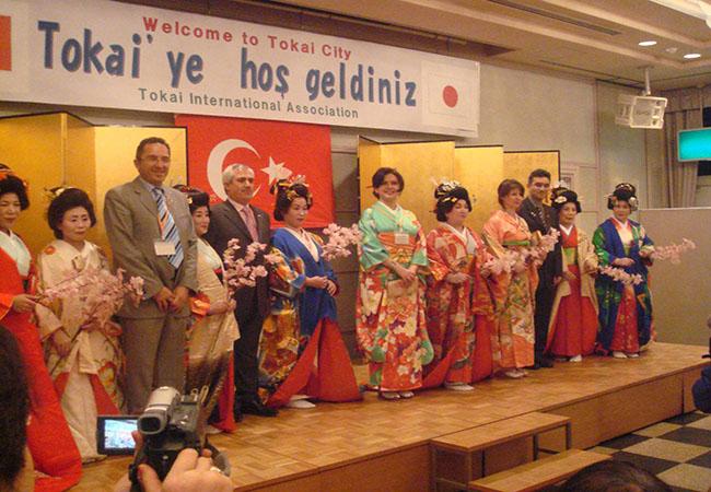 Dernek Heyeti Japonyanın Tokai Şehirinde